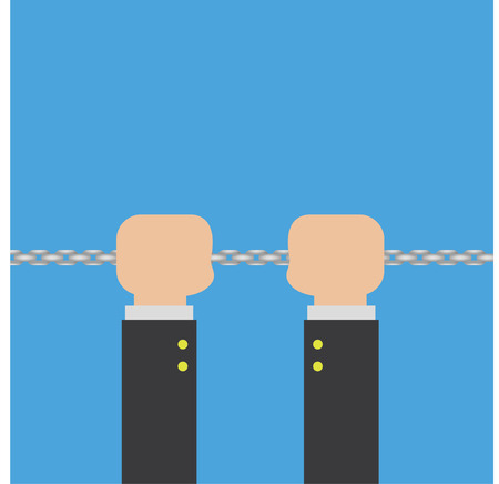 shackles: chain in hand  vector Illustration