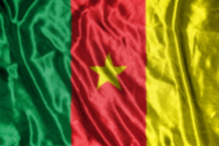 cameroon: cameroon flag,abstract blurred background