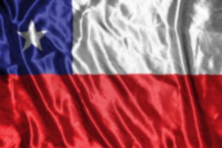 flag of chile: Chile bandera, fondo borroso abstracto