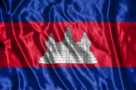 cambodian: Cambodia flag,abstract blurred background