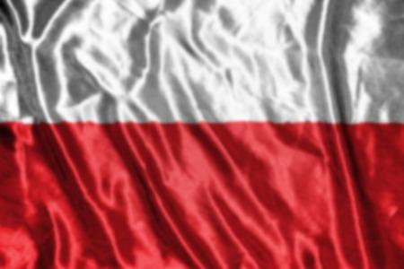 bandera de polonia: bandera polaca, abstracta fondo borroso Foto de archivo