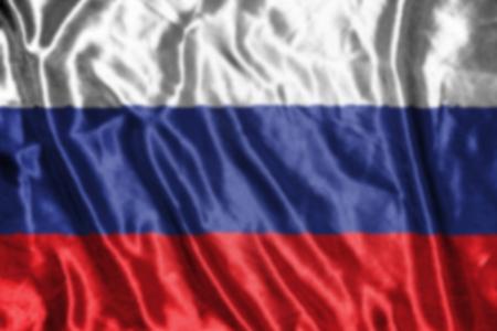 bandera rusia: Bandera de Rusia, abstracta fondo borroso