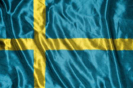 bandera de suecia: bandera de suecia, abstracta fondo borroso