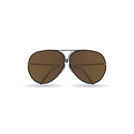glass reflection: sunglasses  vector Illustration