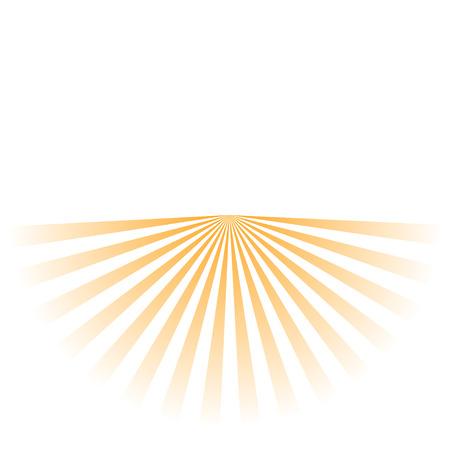 los rayos del sol de fondo