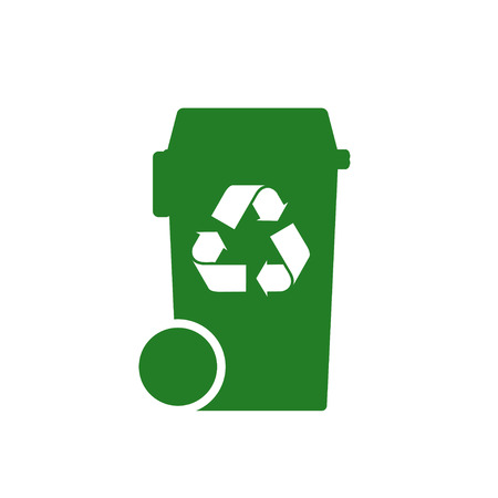 paper recycle: bin with recycle symbol