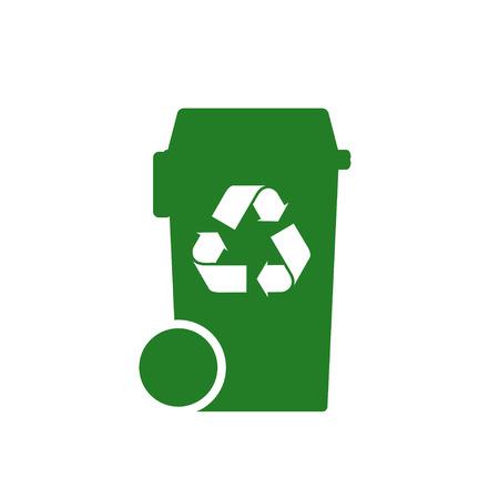 raccolta differenziata: scomparto con ricicla il simbolo Vettoriali