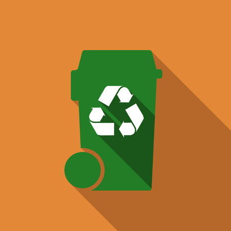 recyclable waste: bin with recycle symbol