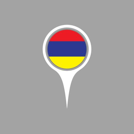 flag pin: armenia flag,pin