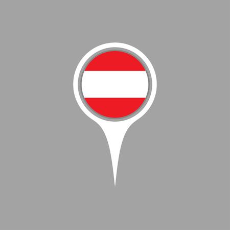flag pin: austria flag,pin
