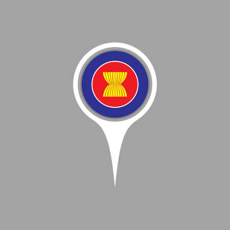 flag pin: asean flag,pin