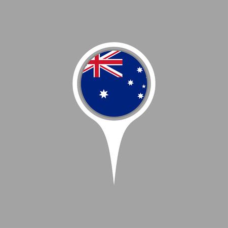 flag pin: Australian flag,pin