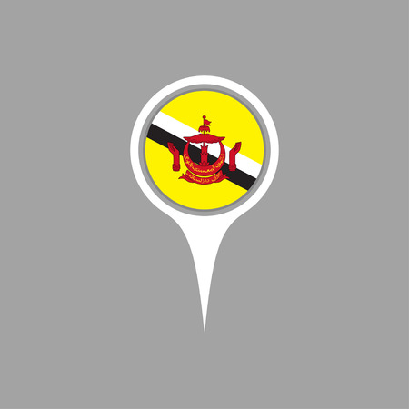 brunei darussalam: Brunei Darussalam flag,pin Illustration