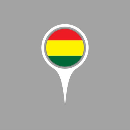 flag pin: bolivia flag,pin