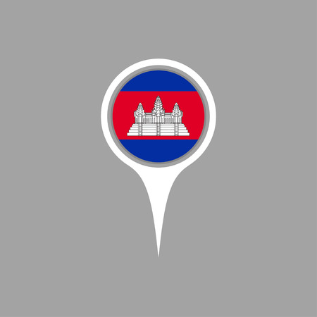 flag pin: Cambodia flag,pin