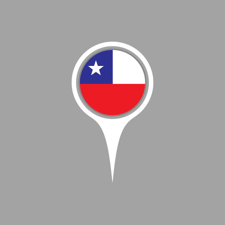 chile flag: chile flag,pin
