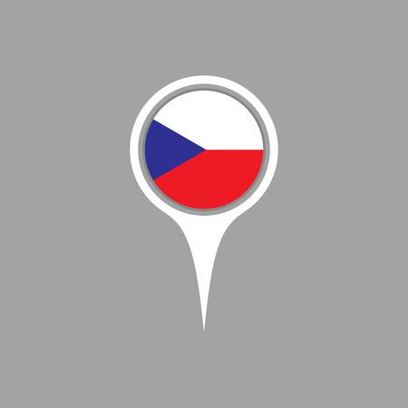 flag pin: czech flag,pin