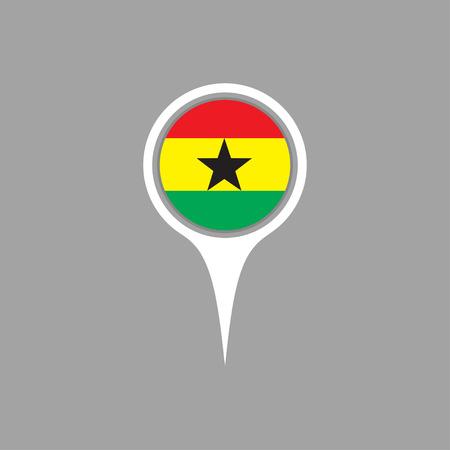 flag pin: ghana flag,pin