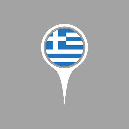 greece: Greece flag,pin