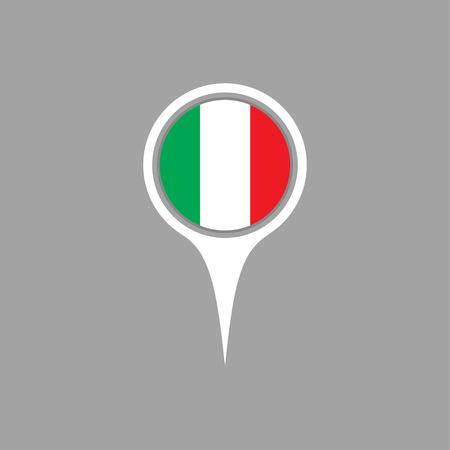 flag pin: Italy flag,pin