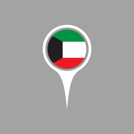 flag pin: kuwait flag,pin