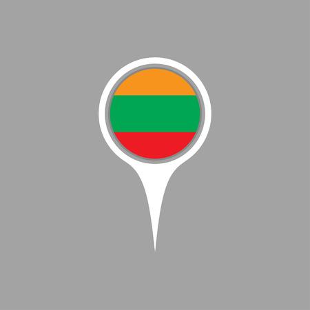 flag pin: lithuania flag,pin