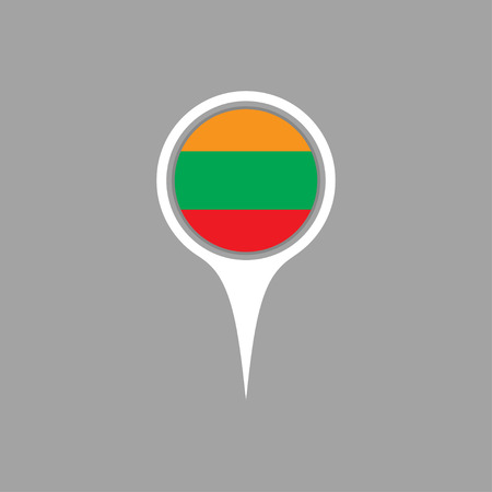 lithuania: lithuania flag,pin