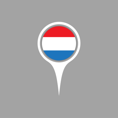flag pin: luxembourg flag,pin Illustration