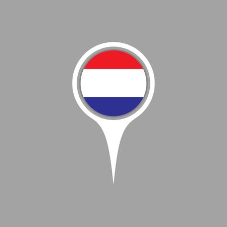 flag pin: netherland flag,pin