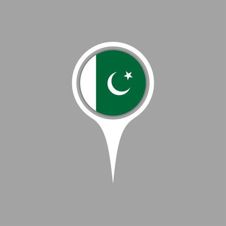Pakistan: pakistan flag,pin