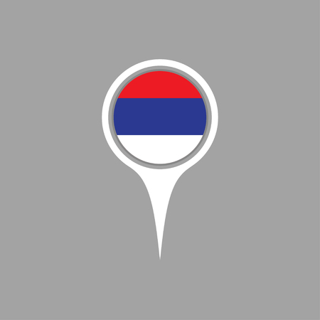 serbia flag: serbia flag,pin