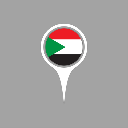 sudan: sudan flag,pin