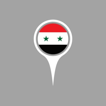 syria: syria flag,pin