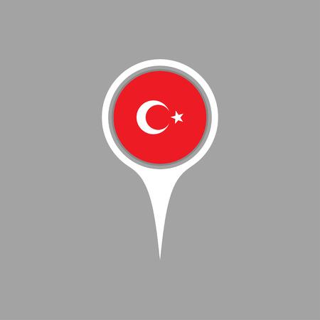 flag pin: turkey flag,pin