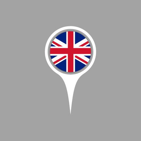 flag pin: England flag,pin