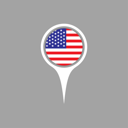 flag pin: United States flag,pin