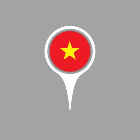 vietnam flag: Vietnam flag,pin Illustration