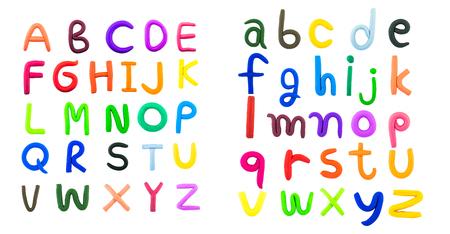 영어 편지, 흰색 배경에 점토 스톡 콘텐츠 - 46963556