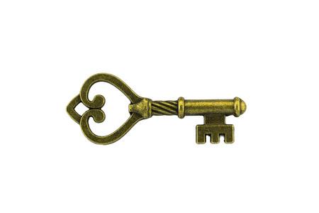 keys to success: vintage key on white backgrond