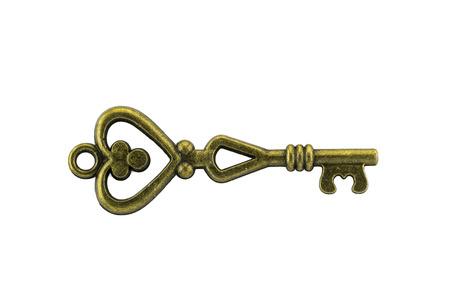cerrar la puerta: clave de la vendimia en blanco backgrond Foto de archivo