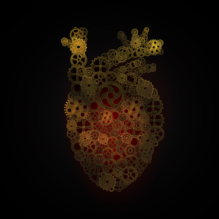 Das Menschliche Herz, Räder Anordnung Form Des Menschlichen Herzens ...