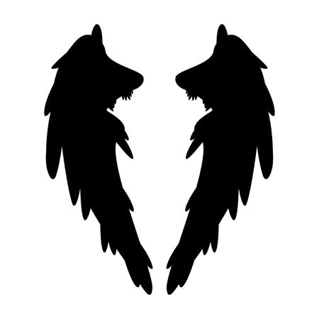 ali angelo: ala vettore Vettoriali