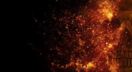 wood fire: skull flames Fire effect