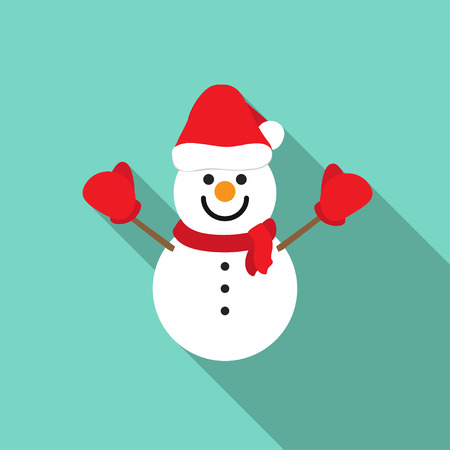 snowman vector: snowman vector