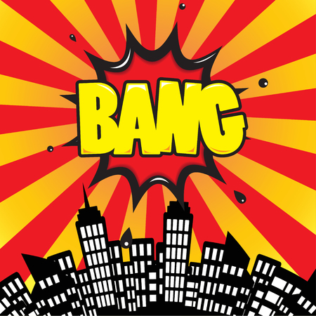 bang: bang - Comic Speech Bubble, Cartoon
