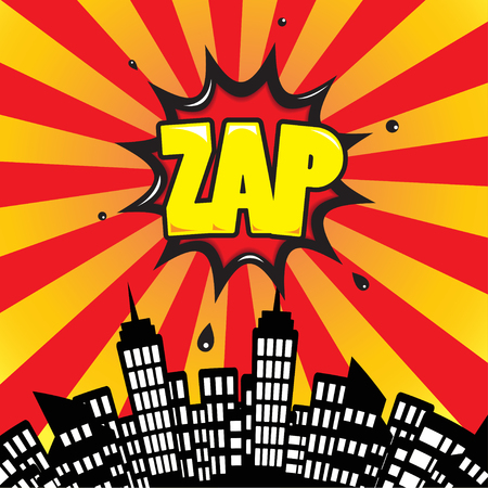 biff: Zap - Comic Speech Bubble, Cartoon