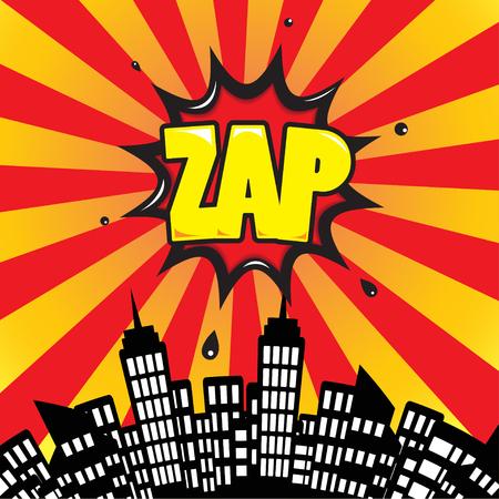 zonk: Zap - Comic Speech Bubble, Cartoon