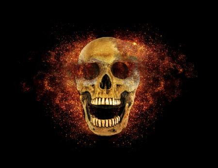 fire skull: skull flames Fire effect