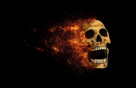 effect: skull flames Fire effect