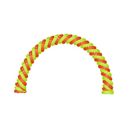 arches: Balloon arches vector Illustration